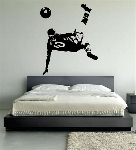 football wall stickers for bedrooms get cheap soccer bedroom decorations aliexpress