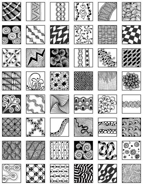 easy zentangle patterns printable zentangle my zentangle doodle reference sheet 2 doodle
