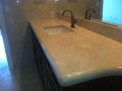 Crema Marfil Countertop by Crema Marfil Marble Countertop Mediterranean Bathroom