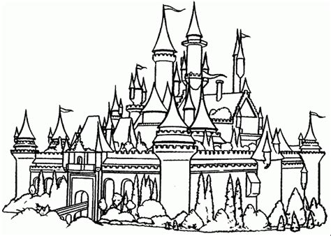 20 free printable castle coloring pages