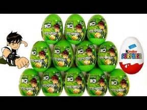 ben10 surprise eggs kinder surprise from cartoon network