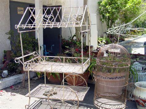 Garden Flower Cart Wrought Iron Flower Cart