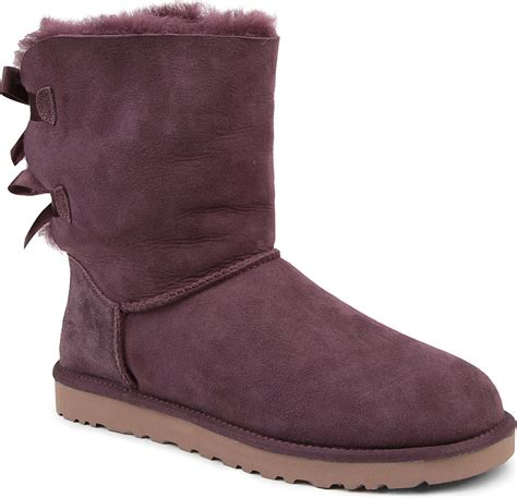 with ugg boots ugg bailey bow sheepskin boots in purple wine lyst