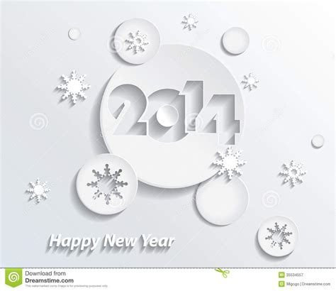 creative new year greeting cards happy new year 2014 creative greeting card stock vector