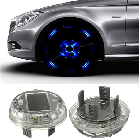 auto lights 2015 new 4 modes 12 led car auto solar energy flash wheel