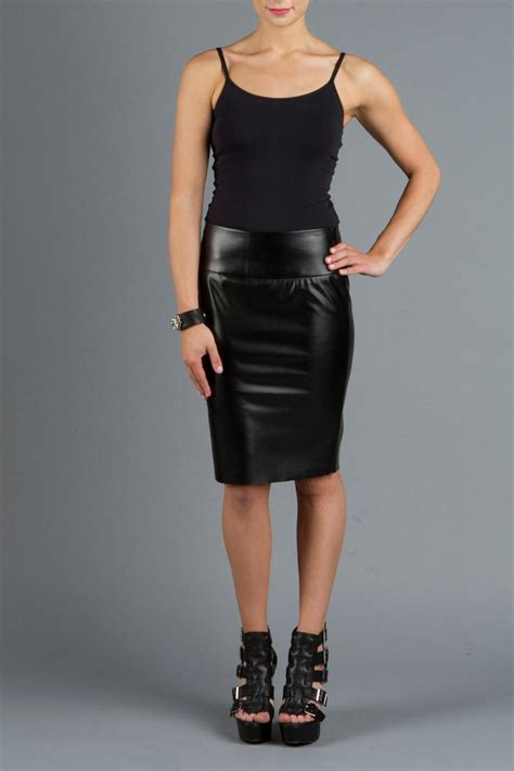 vian pleather pencil skirt from seattle by vian
