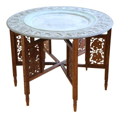 moroccan tray coffee table moroccan tray accent table chairish