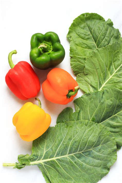 Veggie By Veggie rainbow veggie collard wraps dish by dish