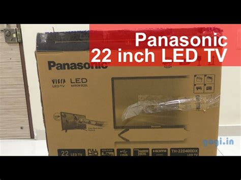Tv Led Akari 22 Inch panasonic 22 inch th 22d400dx hd led tv review best for rs 9 790