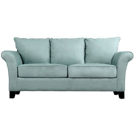 sofa in robin s egg blue stereo room