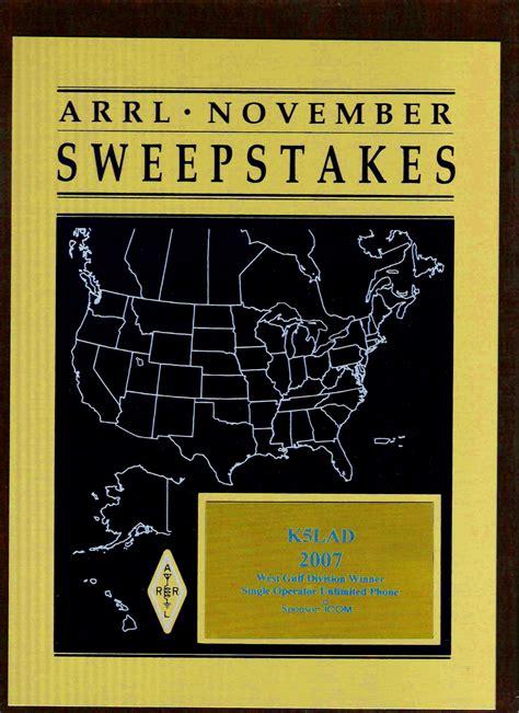 Arrl Sweepstakes - k5lad awards