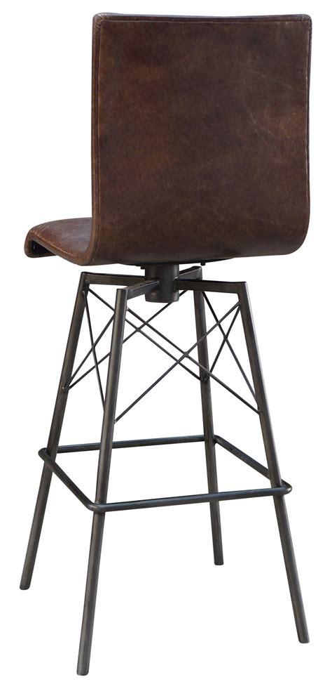 swivel bar stools leather jenna swivel leather bar stool mecox gardens