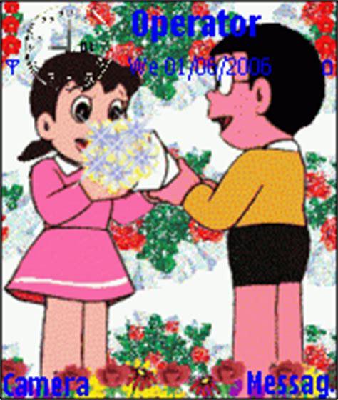 mobile themes gif gif themes for mobile nobita shizuka animated mobile