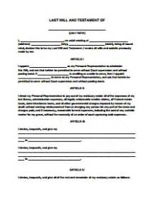 A Simple Will Template by Last Will And Testament Template Beepmunk