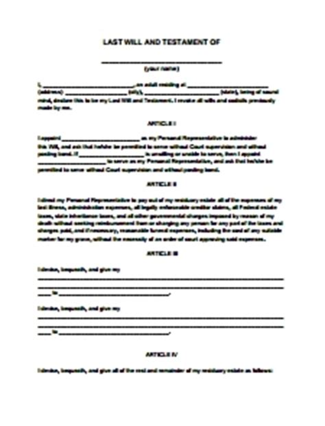 Last Will And Testament Template Beepmunk Last Will Template