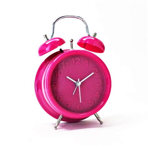 alarm clock bright retro alarm pink alarm clocks priisma