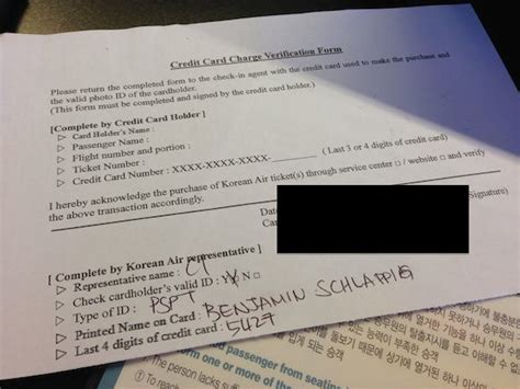 Credit Card Verification Form Korean Air Review Korean Air Check In Los Angeles Airport One Mile At A Time