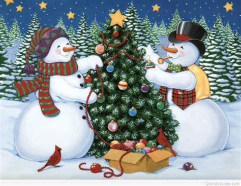 christmas tree decorated with snowmen winter snowman quotes images