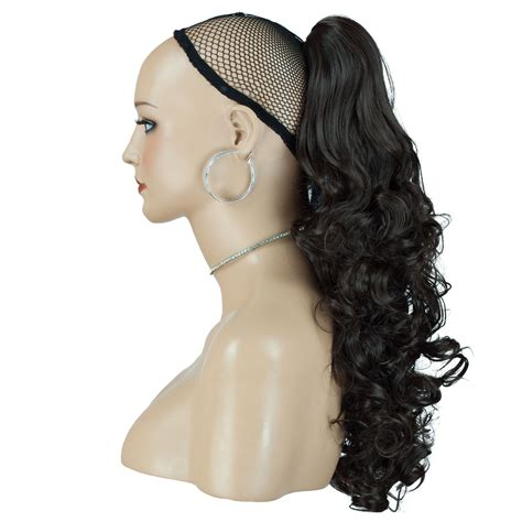 Hair Ponytails Wavy 17 quot ponytails curly wavy falling curls claw clip ebay