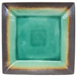 better homes and gardens jade crackle square dinner plate