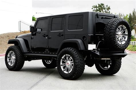 black jeep wrangler lifted jeep wrangler unlimited black wallpapers background