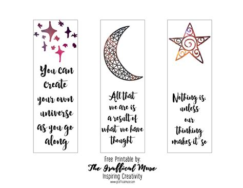 free printable bookmarks with quotes free printable law of attraction bookmarks the graffical
