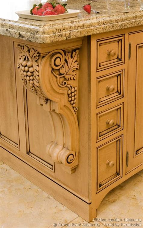 Kitchen Cabinet Corbels Pictures Of Kitchens Traditional Light Wood Kitchen