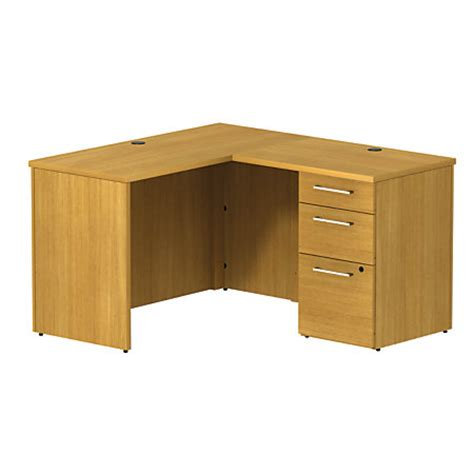 Office Depot Small Desk Bbf 300 Series Small Space L Shaped Desk 29 110 H X 47 35 W X 51 12 D Modern Cherry Premium