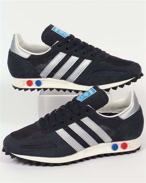Adidas La Trainer Original 1 adidas la trainer og trainers navy silver shoes original runner mens