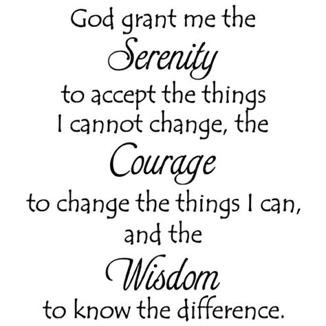 Sticker Wall Decals serenity prayer quote vinyl wall decal sticker art words