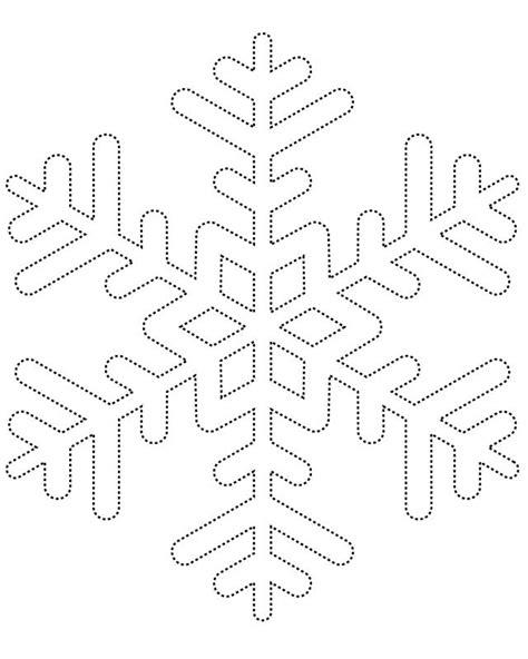 templates for snowflakes snowflake template 1 free printable coloring pages