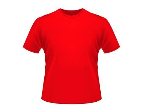 kaos merah polos clipart