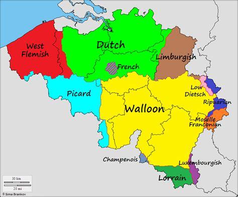 linguistic map of belgium linguistic map of belgium my