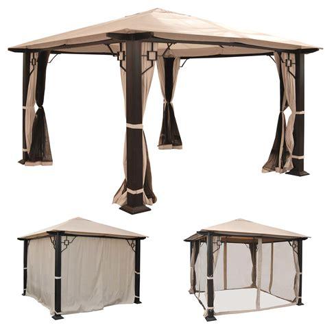 pavillon 5x3 pergola mira garten pavillon 12cm luxus alu gestell 3