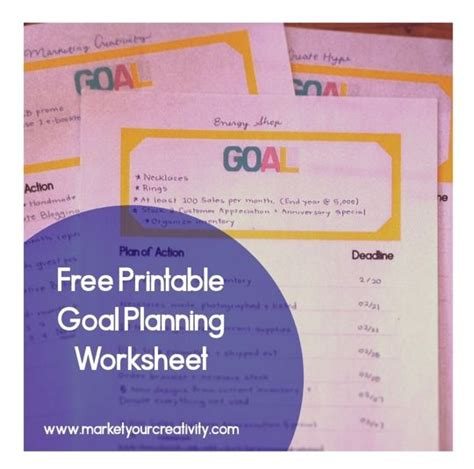 free printable goal planner 2015 8 best images of goal setting printable worksheet for 2015
