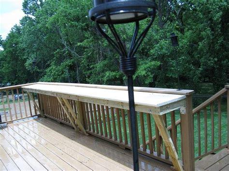 deck railing bar top future house idea putting a bar rail on the deck for