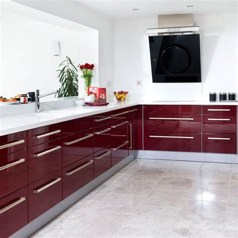 burgundy kitchen modern burgundy kitchen tour ideal home