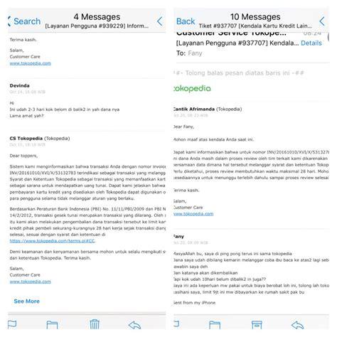 email tokopedia pelayanan pengembalian dana oleh tokopedia yang sangat