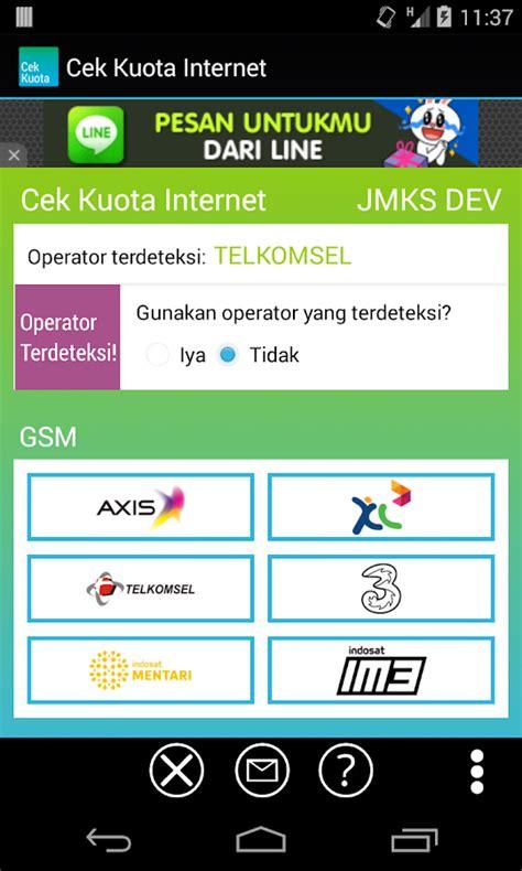 aplikasi kuota gratis three aplikasi cek kuota internet android axis telkomsel