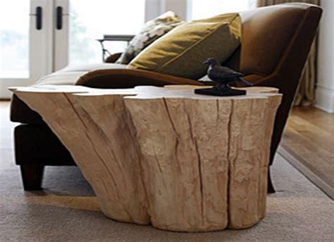 semplice tecnica per realizzare librerie arredare casa con i tavolini in tronco di legno naturale