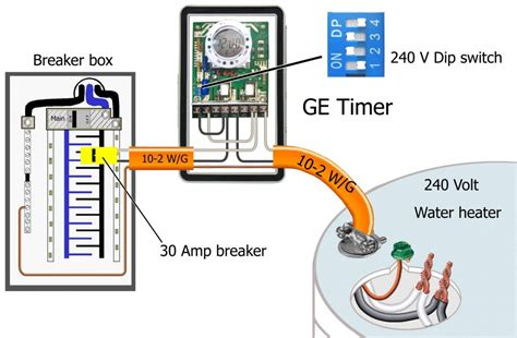 how to wire ge 15132 timer electric water heater wiring