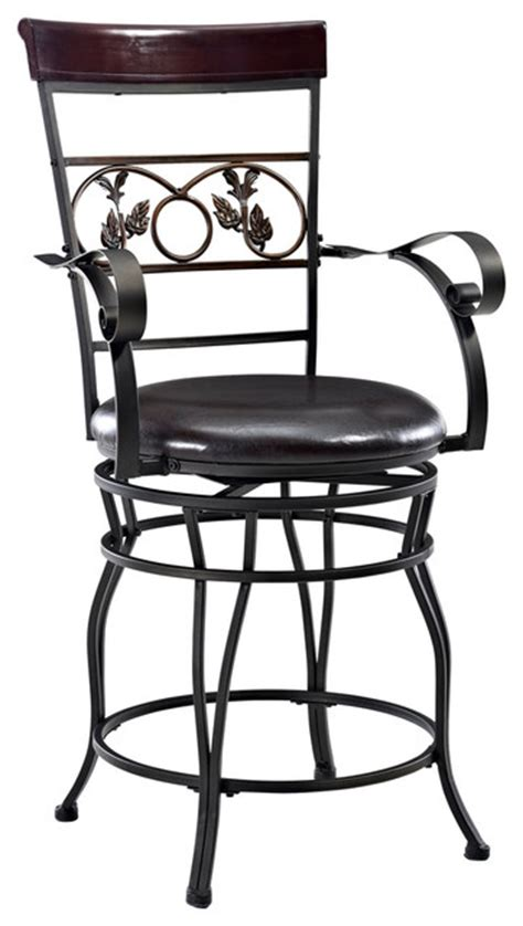 Powell Big And Bar Stools by Powell Big And Counter Stool With Arms In Bronze