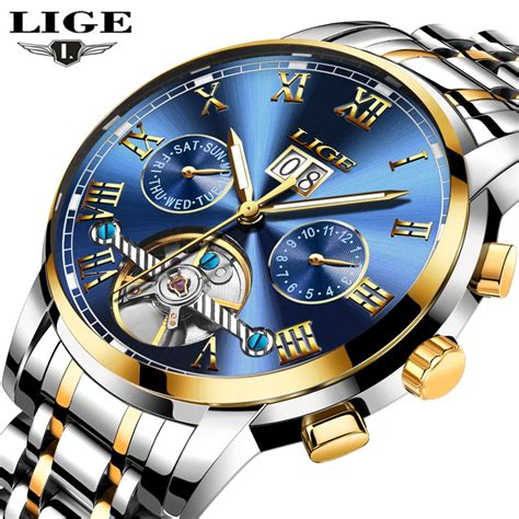 lige mens watches top brand luxury automatic