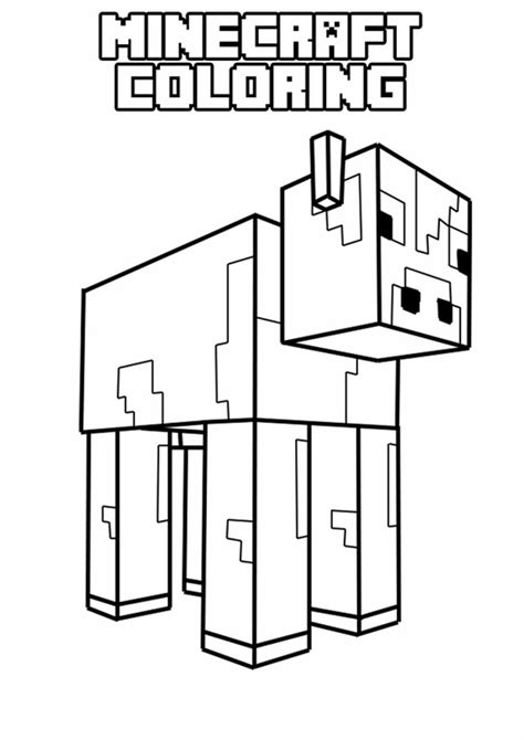 minecraft mooshroom coloring page free coloring pages of minecraft alex