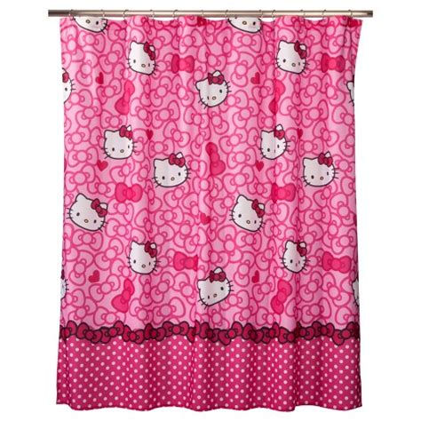 kitty shower curtain hello kitty shower curtain target