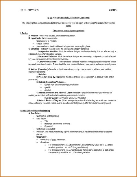biology lab report example college new 7 lab report sample chemistry