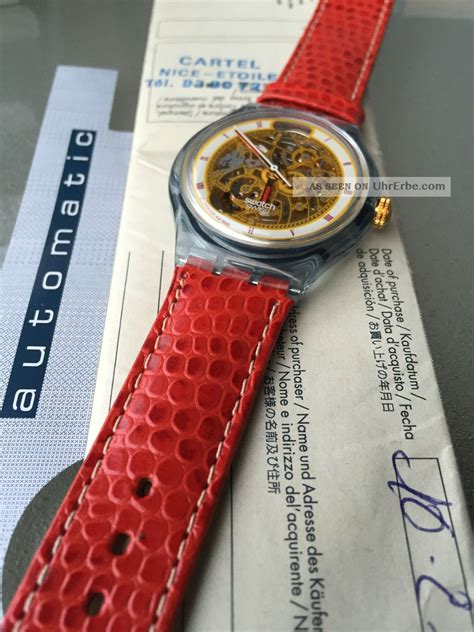 Swatch Seri Aotomatic swatch automatic quot abendrot quot san 103 ovp mit stempel