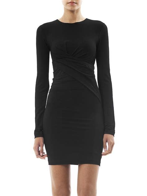 I Jersey Dresses by T By Wang Ruched Mesh Jersey Fitted Dress For