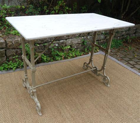table en fonte table ancienne de jardin plateau en marbre et pied en fonte