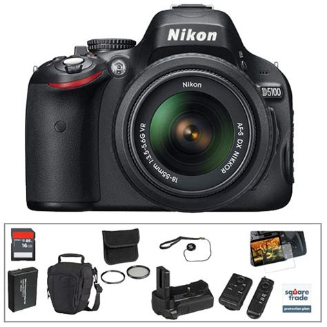 Nikon D5100 Vr Kit Nikon D5100 Dslr Deluxe Kit With 18 55mm Vr Lens B H Photo
